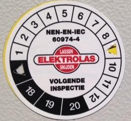 Keuring lasapparatuur IEC 60974-4