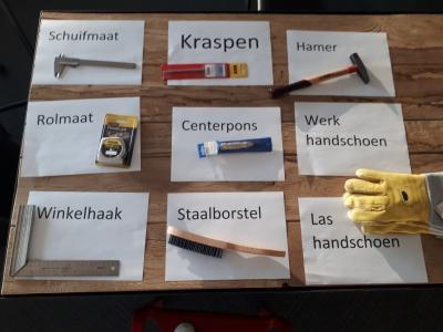 Nederlandse les in voorwerpen werkvloer