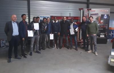 Eritrese leerlinglassers geslaagd en aan het werk