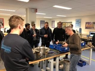 Onze NIL cursisten bezoeken het lab Element