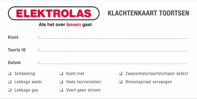 Servicedienst introduceert 'klachtenkaart toortsen'