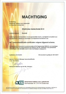NIL machtiging lasserskwalificates (LK's)