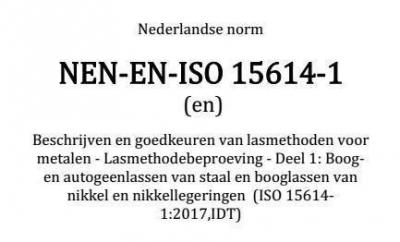 Workshop 'Vernieuwde norm 15614'