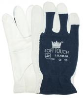 WERK Handschoen Tropic 10 geitenleder, blauw katoenen rug, maat 10