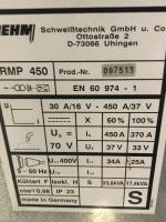 Gebruikte Mig/Mag Lasmachine Rehm RMP 450 met dubbele koffer. sn: 097513  Inclusief toorts / massaklem en reduceer
