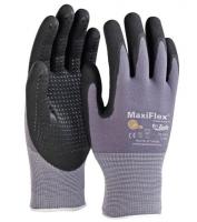 Grip handschoen CoolF naadloos nylon met ribbel structuur, maat L