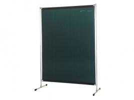 Gazelle lasscherm Green 6 Hoogte 200 cm, breedte 140 cm inclusief een spangordijn van 170 cm hoog en 140 cm breed