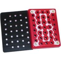 3M Hookit steunpad multiperforatie, rood,  76 mm x 102 mm, 33 gaten