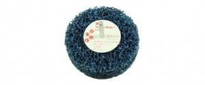 3M Clean & Strip Scotch Brite schijf CG, ZS op stift, blauw,  100mm x 25mm x 6mm stift, S Extra Coarse