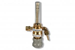 Leidingventiel Argon Optimator 30 liter per minute. Ingang: 1/2