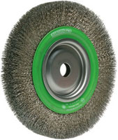Borstel RVS 150x16x32 Gegolfde draad 0,2mm