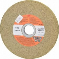 Scotch-Brite gegoten Ontbraamwiel XR-WM, beige,  150 mm x 12 mm x 25 mm, HA 120