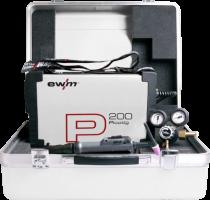 EWM Picotig 200 Puls Tig machine set incl. koffer met tigtoorts type 150 DD 4meter, massakabel en reduceer.