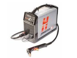 Hypertherm Powermax 85 ** 400V Incl. 1x 7,5mtr H85-toorts (haaks), 1x 7,5mtr toorts H85S (recht) en massakabel Bereik : 32mm Scheiding : 38mm