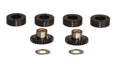 EWM aandrijfrolset ALU tbv 0,8 en 1,0mm alu, bestaande uit 4 rollen,  2 tandwielen en 2 afstandsringen.