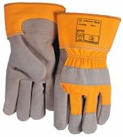 WERK Handschoen 2209  S Slijt- snij- en puntbestendige lederenpalm werkhandschoen, palm van duurzaam splitleder