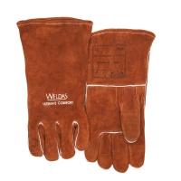 MIG Handsch bruin 46cm L Rechte en versterkte duim voor betere grip op MIG handgrepen