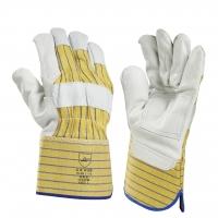 WERK Handschoen Palm      ** Werkhandschoen Rundnerfleder met palmversteviging, kap 10cm (12 in pak)