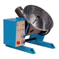 Lasmanipulator PT-101A Kantel lasmanipulator 100Kg met noodstop. 230Volt / rpm 0,15-4 / HF bescherming / voetpedaal