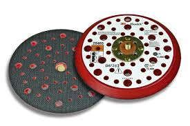 3M Hookit steunpad met klein profiel, rood schuim,  150 mm, 53 gaten