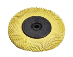 Scotch-Brite Radial Bristle Borstel BB-ZB met adapter, TA, geel,  150 mm x 12 mm x 25 mm, P80