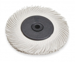 3M Scotch-Brite Radial Bristle Borstel (wit) BB-ZB met adapter,  150x12x25mm, P120