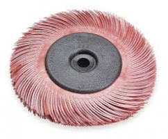 Scotch-Brite Radial Bristle Borstel BB-ZB met adapter, rood,  150 mm x 12 mm x 25 mm, P220