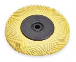Bristle 150mm  K80 Geel Scotch-Brite bristle (medium) met curve haren.