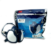 3M 4277 Halfgelaatsmasker FFABEP3 R D. Beschermt tegen gassen en organische dampen tot 1000ppm