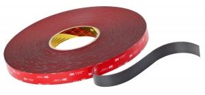 3M VHB dubbelzijdige acrylaat tape 19mm  dubbelzijdige tape Voor o.a. verbinden van aluminium aan staal. 1,1mm dik.  Prijs per stuk/verpakt per 4 stuks.