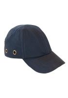 Baseball Cap marine blauw veiligheidscap met hoofdbescherming.