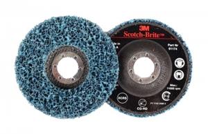 3M Clean & Strip Scotch Brite schijf CG, RD op harde onderlaag, blauw,   115mm x 22mm, S Extra Coarse