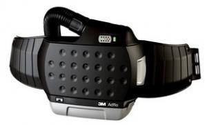 3M Adflo set compleet HD met luchtslang, riem, vonkenvanger, voorfilter, deeltjesfilter, Heavy Duty batterij, en acculader.