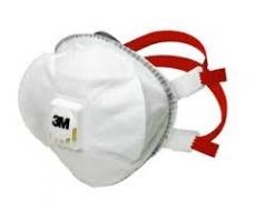 3M 8835 Stofmasker     P3 Cupvorm met uitademventiel  per 5 verpakt