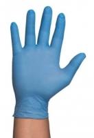Handschoen Nitril poeder- vrij. Maat XL doos van 100 paar.