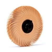 3M Scotch-Brite Radial Bristle Schijf, RB-ZB, oranje,  76x2x10 mm 6 mm stift