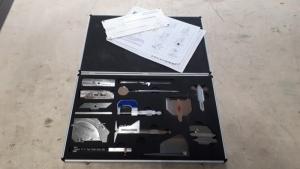 Inspectiekoffer kit 2 Elektrolas bestaande uit: - V-Wac Gage - WTPS undercut Gage - Micro meter - CAM Gauge - High Low meter - HK 45 - High Low Single - Hoekmeter