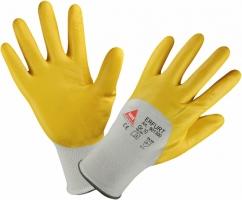 Handschoen Erfurt geel maat 7, Nitril, vet en olie afstotend