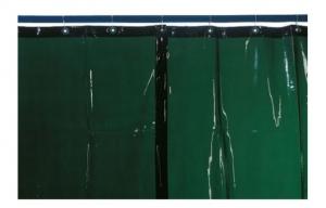 Lasgordijn 2,50 x 2,20 lasgordijn in 2 delen inclusief rail 2,50mtr breed en 2,20 hoog, kleur groen din 9.