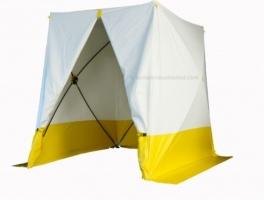 Lastent heavy duty 300x300x209cm - Zelfdovend PVC - wit doek met reflecterende strepen - Gewicht 73,63 kilogram - Tent is voorbereid om te kunnen hijsen