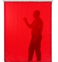 Lasgordijn Orange 180x140 P/st Hoogte 180cm, Breedte 140cm Volledig omzoomd en afgewerkt met 7 ophangogen aan één 140 cm zijde en drukknopen aan beide zijkanten.  Wordt geleverd inclusief 7 stalen haken. Per 10 verpakt.