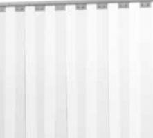 Lamelafscherming op maat Cepro-Clear 300 x 2 mm lamelafscherming,  verschuifbaar in een enkel railprofiel voor de dag.