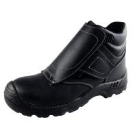 Lasschoen zwart mt39 Lasschoen met klittenbandsluiting. PU-zool, S3 en kruipneus