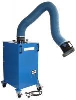 Afzuigfilter Mobi-flex AK Mobiele afzuiger 230V 1,1kW met flexibele afzuigarm van 3mtr, polyester fijnfilter en een actief kool filter.