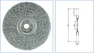 Borstel RVS 150x13x16 gegolfde draad 0,3mm