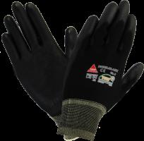 Werkhandschoen Padua zwart maat S, nylon/PU