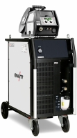 Gebruikte EWM Phoenix 401 Progress Puls Mig machine s/n: 514296 compleet met: migtoorts 555/4m, reduceerventiel en robuste massakabelset.