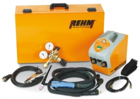 Gebruikte Tiger 210DC set Rehm tigmachine compleet met koffer, Rhona reduceer, Tigtoorts R-SR 7-26/8mtr en massakabel.